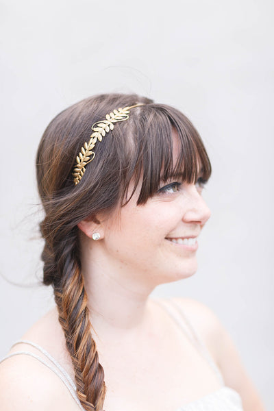 Little Laurels - Silver Leaf Headband