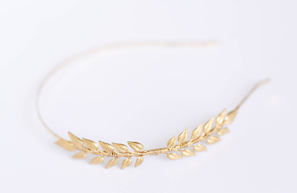 Little Leaves - A Golden, Rose Gold, or Silver Leaf Heaband
