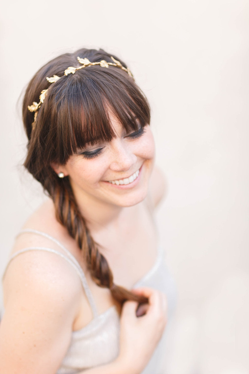 leaf wedding crown