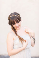 wedding crown headband gold