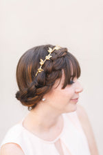 elder leaf bridal headband