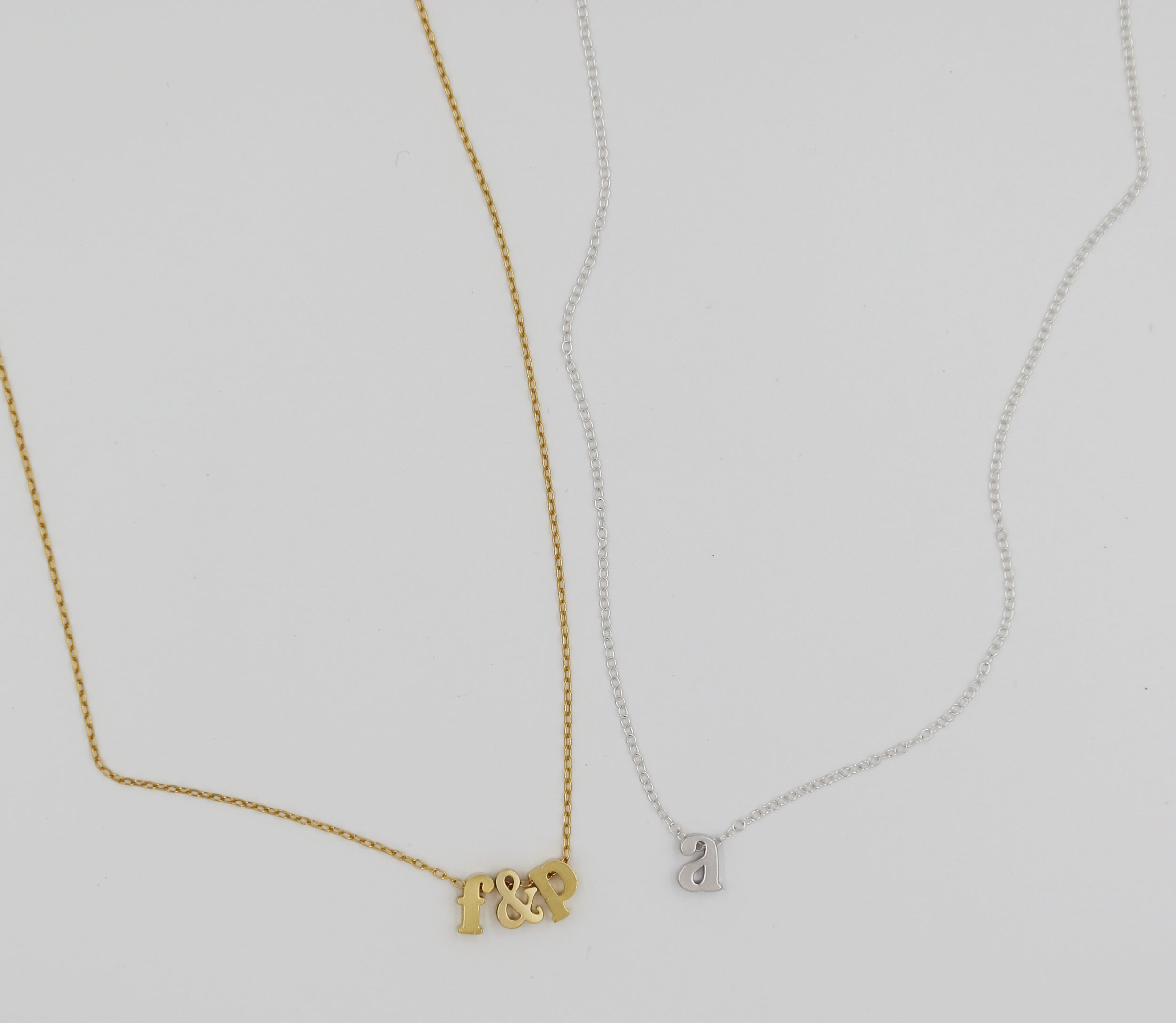 Double Letter - Monogrammed Necklace - Gold Fill or Sterling Silver