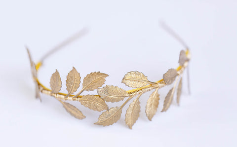 Oversized Leaf Crown - Gold, Silver, or Rose Gold