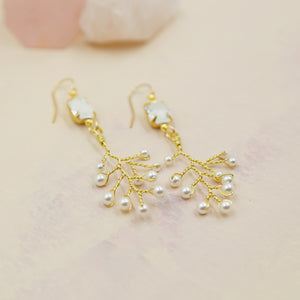 Swarovski Pearl Vine Statement Earrings