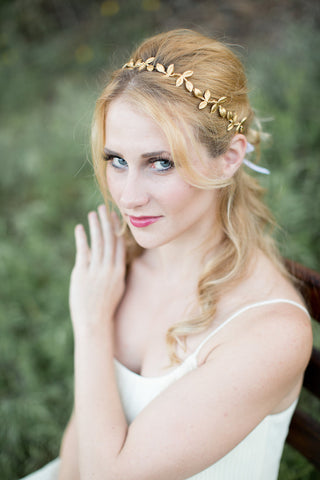 Petite Gold Leaf Crown