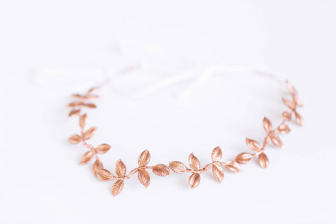 Petite Rose Gold Leaf Crown