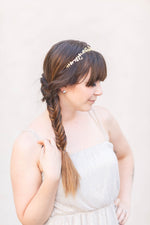gold flower bridal tiara