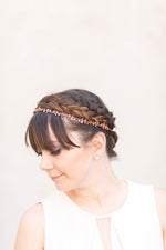 rose gold wedding hair piece