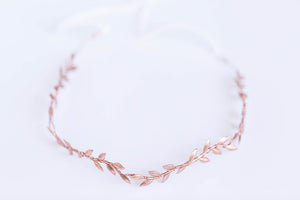 rose gold bridal headband