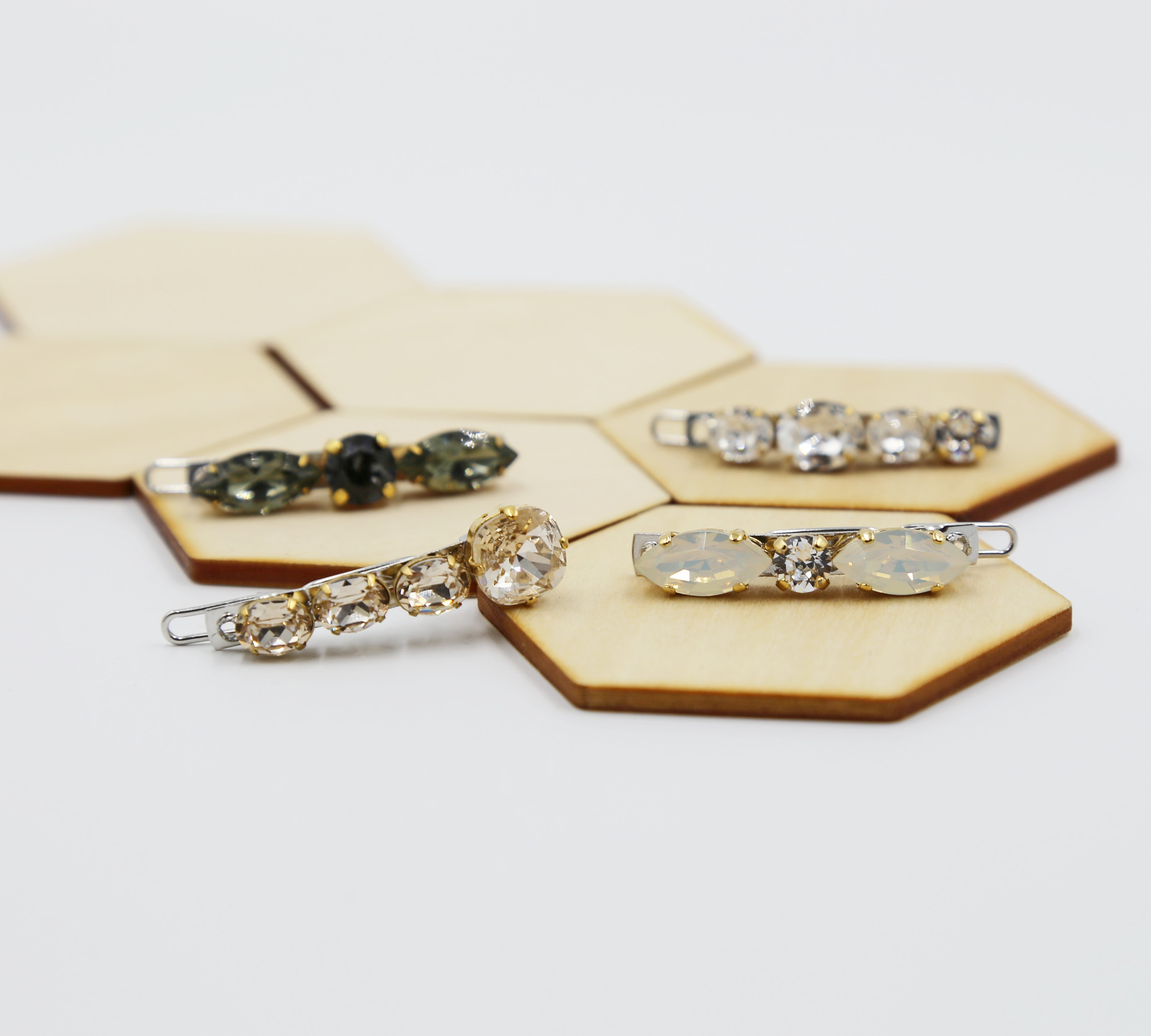 Small Swarovski Hair Barrettes