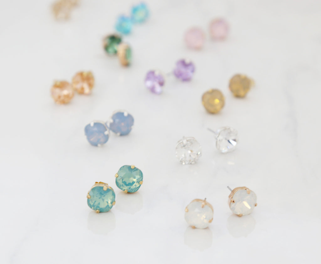 swarovski crystal earrings 10mm