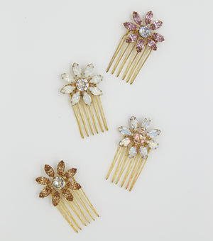 Swarovski Flower Mini Comb