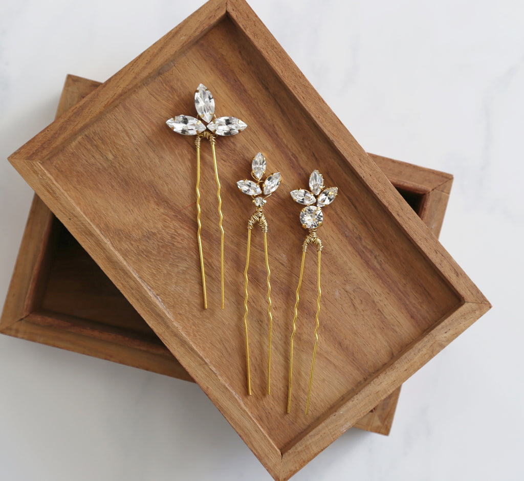 swarovski hair pins
