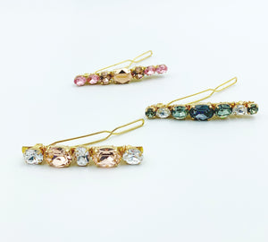 Large Swarovski Hair Barrettes