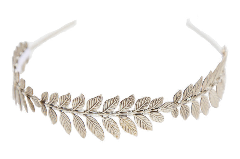 The Triple Goddess Headband - Silver or Golden Leaf