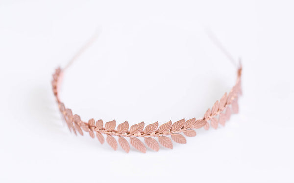 The Triple Goddess Headband - Rose Gold Leaf