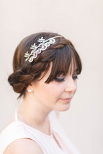 silver wildflower headband