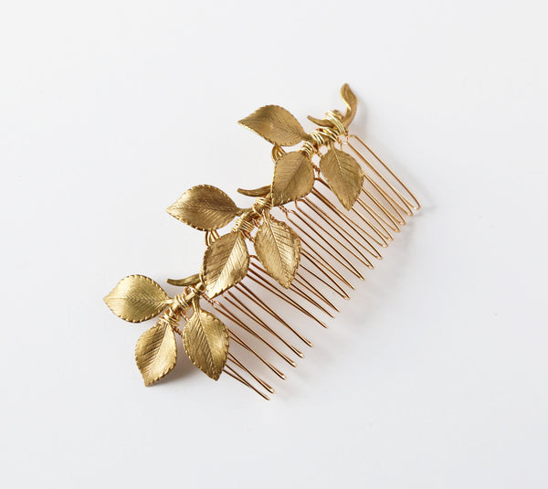 Leaves and Twigs Comb - Bridal or Special Occasion Boho Comb, crown, halo, hair piece