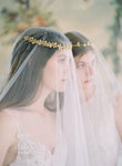 gold flower wedding crown