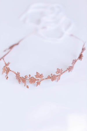 rose gold flower crown