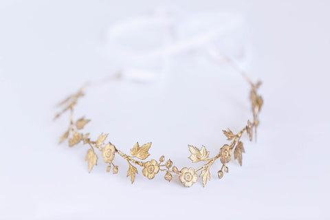 Wildflower Crown - Simple Brass Floral Crown