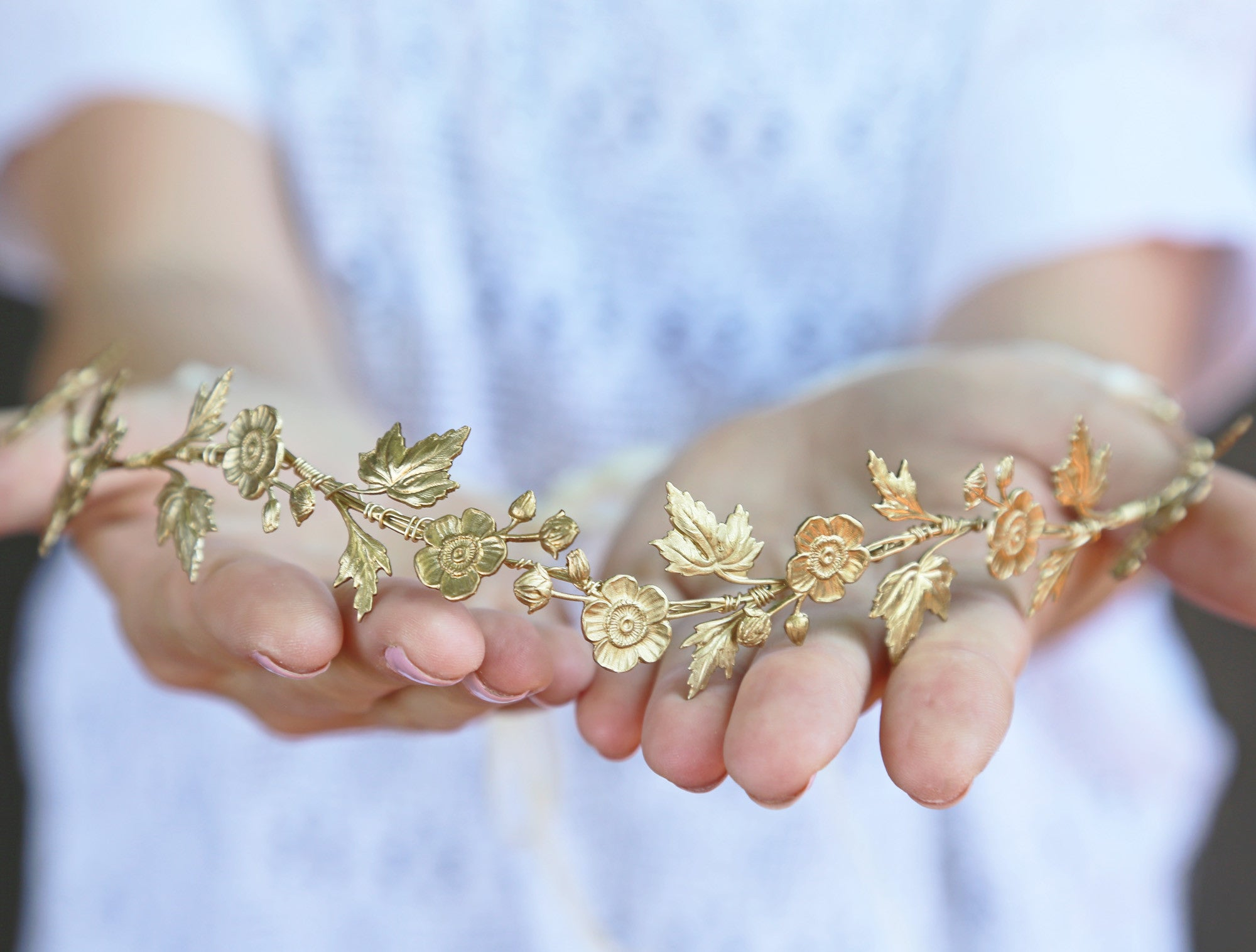 gold wildflower crown