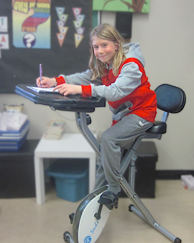 Stel'Air Student High School Desk Bike JL-824