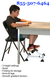 Stel'Air Adjustable Height Desk Cycle Classroom Exerciser VZ-342