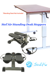 Stel'Air Standing Desk Mini Stepper with Resistance Bands TSQT-875