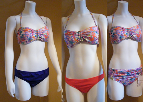 04bb58a6f7cbb Home > Products > Liz Claiborne Bandeau Top Size 10 w/ith 2 LC Bottoms and  1 AZ Bottom