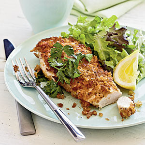 Crispy Chicken with Lemon, Parsley, and EVOO Recipe