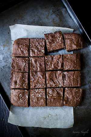 Salted Olive Oil Brownies Recipe