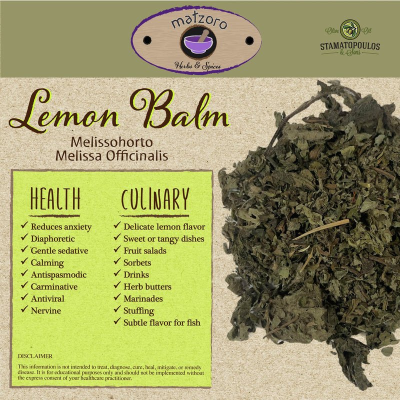 Lemon Balm - Melissohorto (Melissa officinalis) - 35 grams