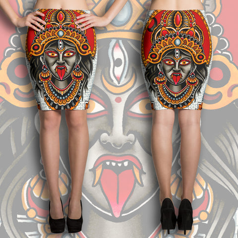 """Kali Ma"" Pencil Skirt"