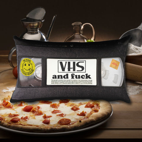 """VHS & Fuck"" Pillow"