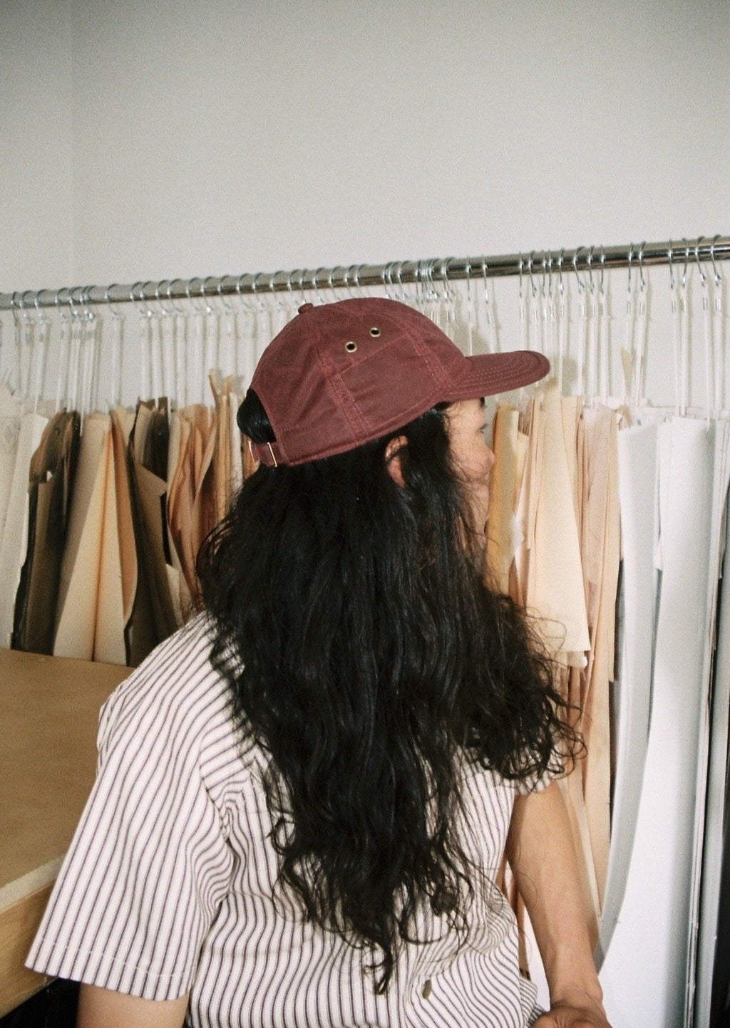 Burgundy 6 Panel Waxed Cotton