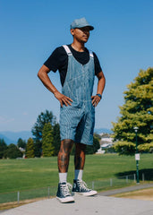 Hickory Striped Overall Shorts ~ Summer 18