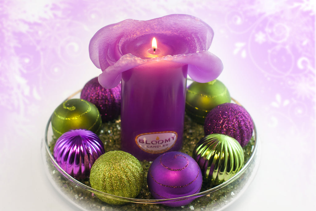 Bloomy Candles Christmas Bowl