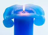 Blue Bloomy Candle - the candle that blooms like a flower!