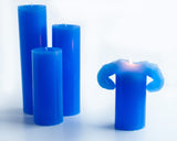 Blue Bloomy Candle Set - the candle that blooms like a flower!