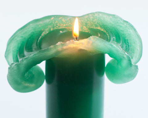 Green Bloomy Candle - the candle that blooms like a flower!