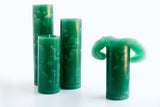 Green Bloomy Candle Set - the candle that blooms like a flower!