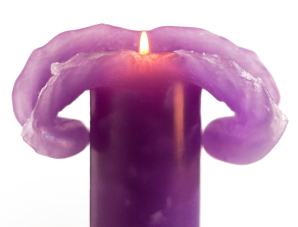 Purple Bloomy Candle - the candle that blooms like a flower!