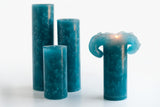 Teal Bloomy Candle Set - the candle that blooms like a flower!