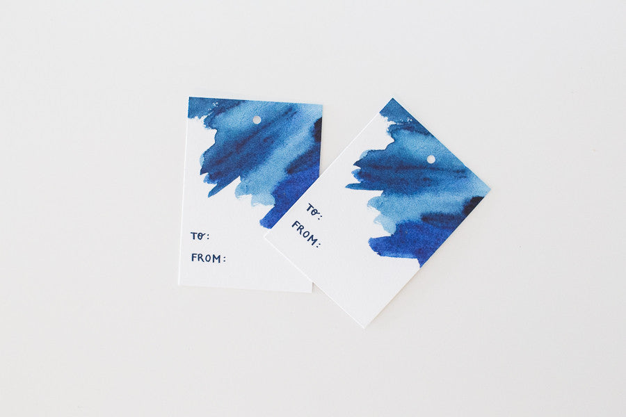 Watercolor Gift Tags - Set of 6