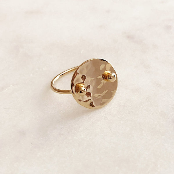 Allison - Hammered Disc Ring - Kurafuchi