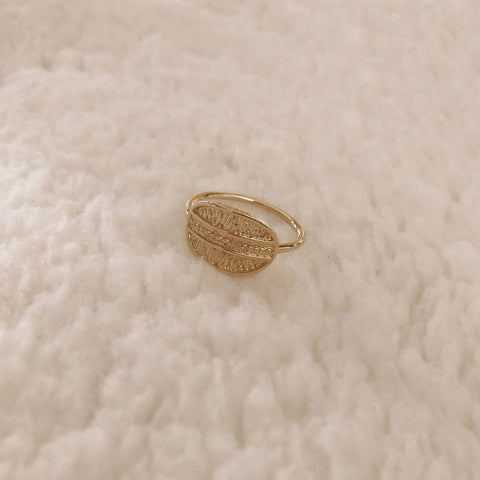 Anka - Textured Oval Ring - Kurafuchi