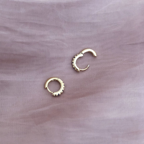 Hailey - Blue CZ Hoops - Kurafuchi