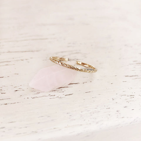 Letty - Thin Textured Ring - Kurafuchi