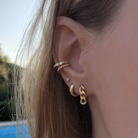 Naia - Twisted Ear Cuff - Kurafuchi